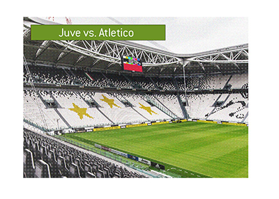 Allianz Stadium in Turin - Juventus vs. Atletico Madrid coming up in the Champions League shortly.