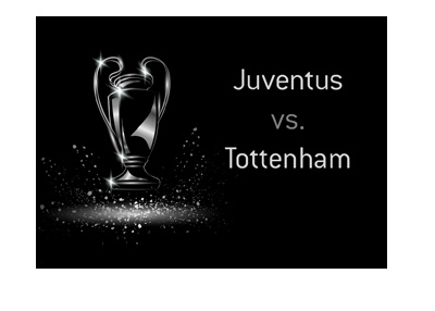 The UEFA Champions League match - Juventus vs. Tottenham - Odds to win - UCL trophy illustration.