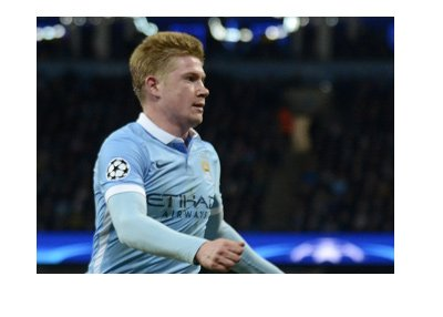 Manchester City FC midfielder Kevin De Bruyne - In action.