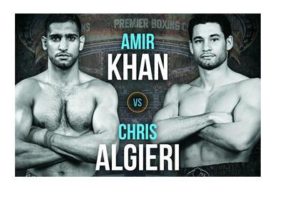 Amir Khan vs. Chris Algieri - Fight Poster - May 29, 2015 - Boxing