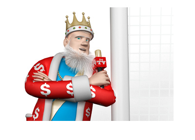 The King is leaning on the goal post and previewing the upcoming Merseyside derby.