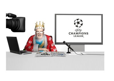The King is doing a report on the latest odds for the UEFA Champions League quarter-finals - 2015/16 season