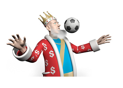 The King is chesting the soccer ball - Announcing the Super Sunday in Euro football