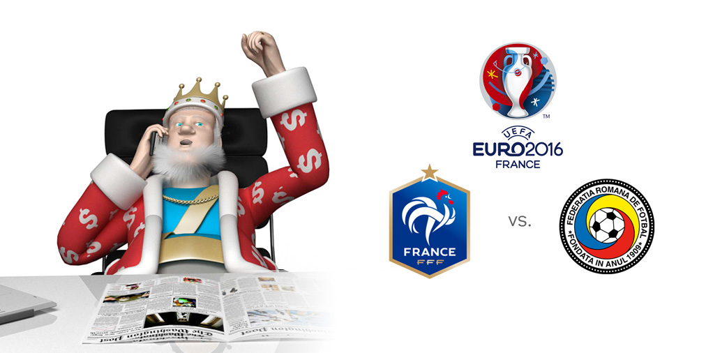 France vs. Romania - Euro 2016 Opening game - Presented by the Sports King