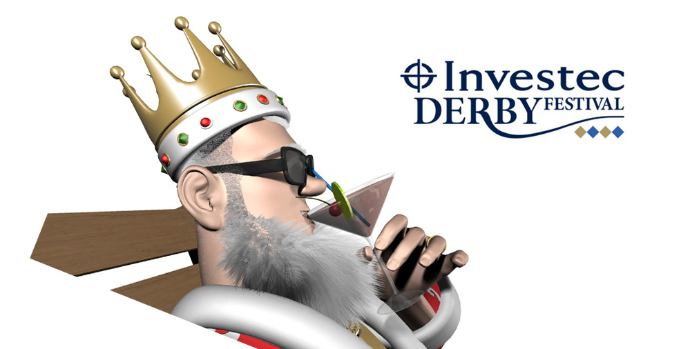 The King is enjoying the sights at the 2016 Investec Derby Festibval