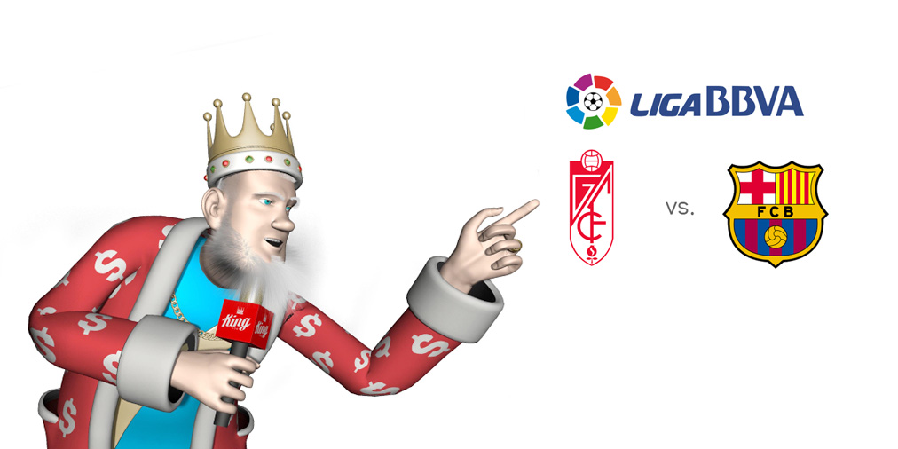 The King presents the upcoming match between Granada and Barcelona in the last round of 2015/16 Spanish La Liga seasons.  Who is the favourite to win this match?