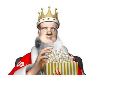 The King is wondering about the next opponent for Connor McGregor, while eating some popcorn