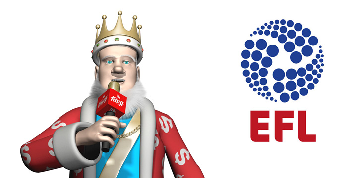 THe King presents the upcoming season of the English Football League 2016/17