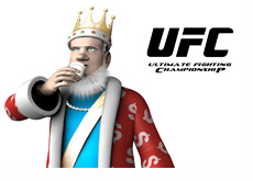King is drinking sake while talking about the UFC 134