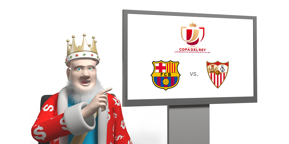 From his media studio, live, the King is going over the upcoming Spanish Copa del Rey final between Barcelona FC and Sevilla FC - 2015/16 season