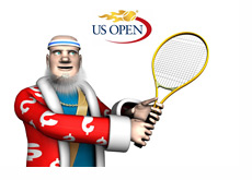 The King is presenting U.S. Open matchups while playing some tennis himself