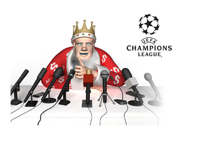 The King is giving the thumb up for the upcoming UEFA Champions League matches