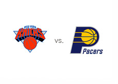 New York Knicks vs. Indiana Pacers - Matchup and team logos