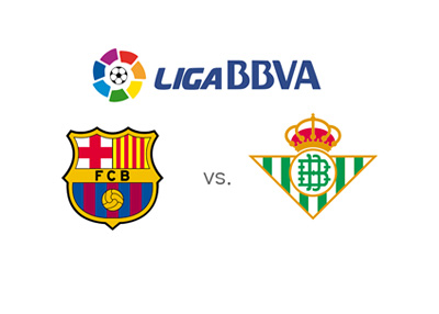 The 2016/17 season of the Spanish League - Barcelona vs. Real Betis - Matchup and odds