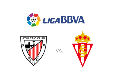 Spanish La Liga matchup - Athletic Bilbao vs. Sporting Gijon - Preview, odds and team crests