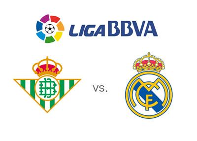 Match preview: Real Betis vs. Real Madrid - Spanish La Liga BBVA