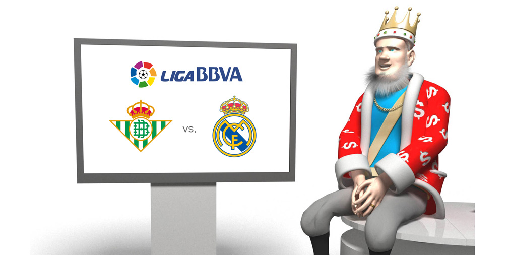 The King presents the upcoming match between Real Betis and Real Madrid in the Spanish premier league