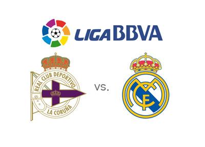 Deportivo La Coruna vs. Real Madrid - Spanish League match - 2015/16 Season