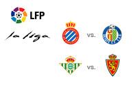 La Liga - Spanish Premier Division matchups - Espanyol v. Getafe and Real Betis v. Real Zaragoza - Team logos