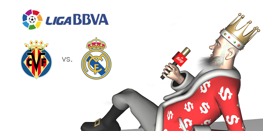 The King presents the odds for the upcoming matchup between Villarreal and Real Madrid in the Spanish La Liga
