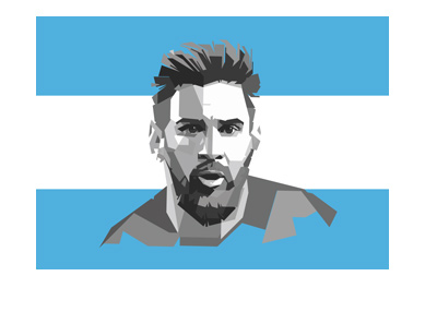 Argentina star player Lionel Messi - Illustration.