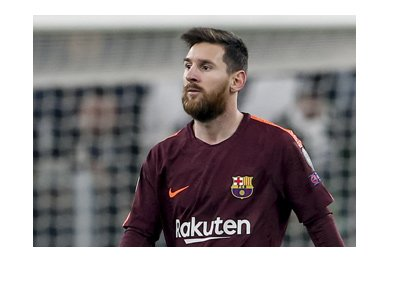 The legendary Lionel Messi photographed in the game vs. Juventus in Turin.  November 2017.