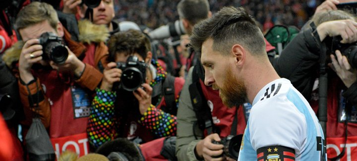 Lionel Messi is in Russia to play a promotional game with Argentina (vs. Russia) ahead the 2018 World Cup.  November 2017.
