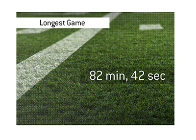 82 minutes and 40 seconds - The longest football (NFL) game.