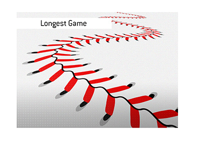 The longest game in Major League Baseball history took place in 1920.