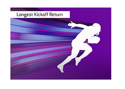 The longest kickoff return in the league history.  Illustration.