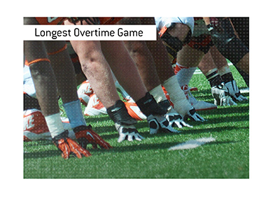 The longest overtime game in college football history.