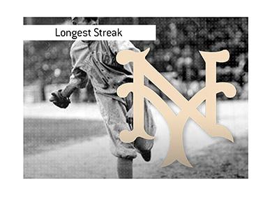 The longest winning streak in baseball history - The New York Giants.