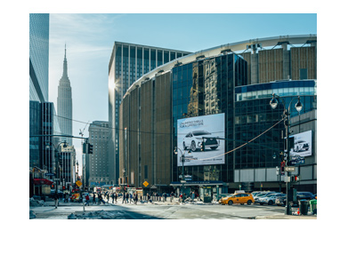 New York City - Madison Square Garden - View from the outside - Pennsylvania Station.