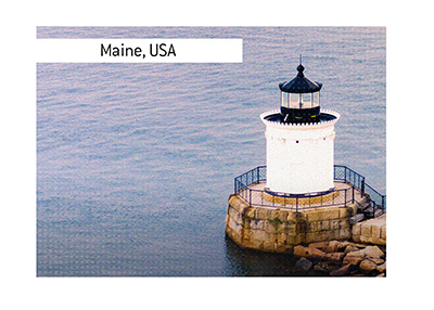 The Bug Light - popular destination in Maine, United States of America.