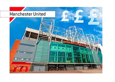 Manchester United stadium - Old Trafford - Entrance - Another good financial year for Man U.