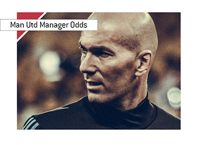 Zinadine Zidane is the favourite to become the new Manchester United manager according to the betting odds.