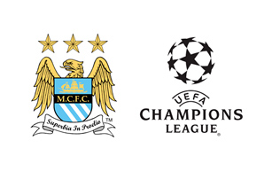 Manchester City and UEFA Champions League logos