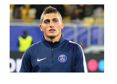 The PSG midfielder Marco Verratti is warming up for the match.  Next up, Anderlecht.