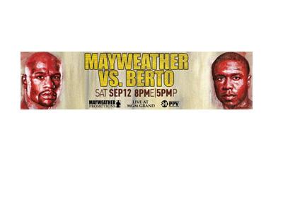 Event Poster - Floyd Mayweather vs. Andre Berto - September 12th, 2015