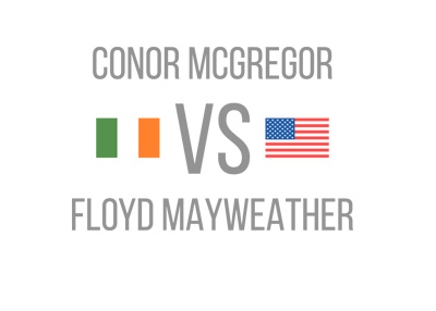 Conor McGregor vs. Floyd Maywether - Boxing matchup - Ireland vs. USA.