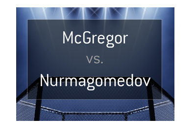 The odds for a potential fight between Conor McGregor and Khabib Nurmagomedov.  The year is 2018.