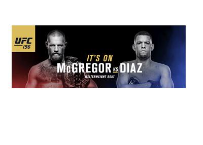 Conor McGregor vs. Nate Diaz - Fight poster - Wide edition - March 2016