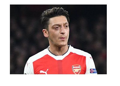 The Arsenal FC magician, Mesut Ozil, pictured here with his trademark facial expression.