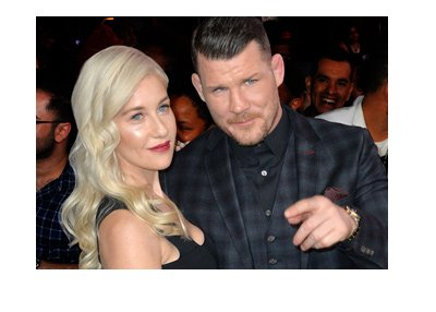 Michael Bisping and wife Rebecca at a movie premiere.  All dressed up and looking good.