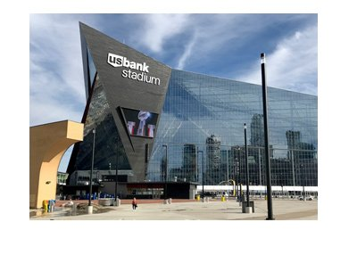 Minnesota Vikings - US Bank Stadium - Photo of outside structure - Year is 2017.