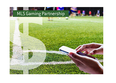 Major League Soccer signs major gaming partnership.  Year is 2019.