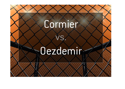 Daniel Cormier vs. Volkan Oezdemir - MMA fight matchup and odds.  January 20th, 2018.