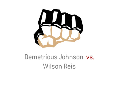 MMA fight between Demetrious Johnson vs Wilson Reis.  The year is 2017.
