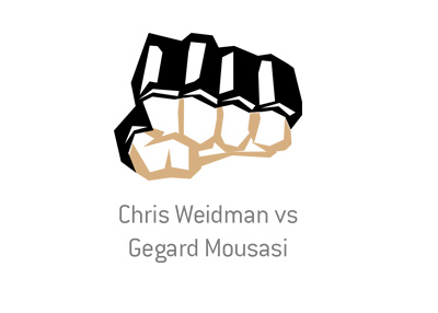 The MMA matchup between Chris Weidman vs. Gegard Mousasi.