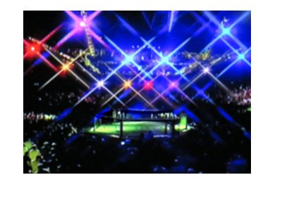 Mixed Martial Arts octagon - Blurred photo - Under spotlights.